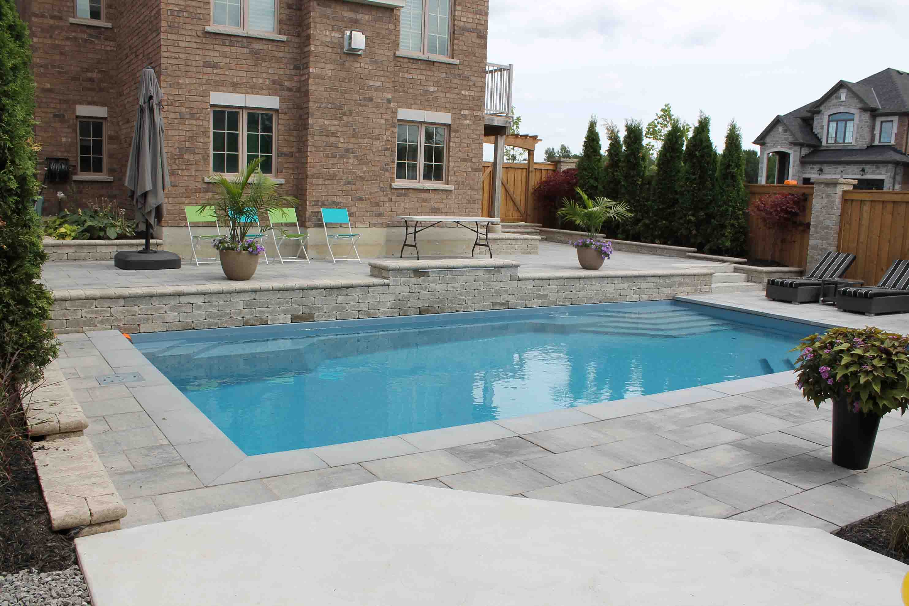 Fiberglass inground swimming pools and spas for Pool design guelph
